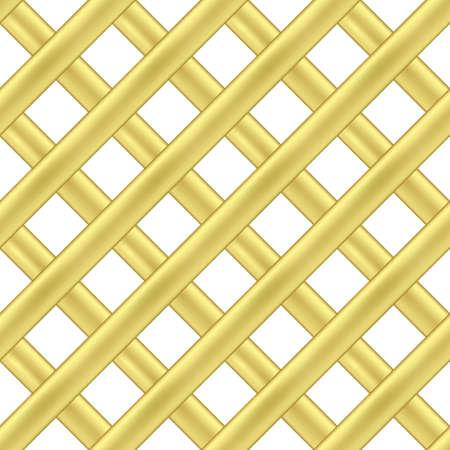 seamless pattern of gold intersecting diagonal ribbons
