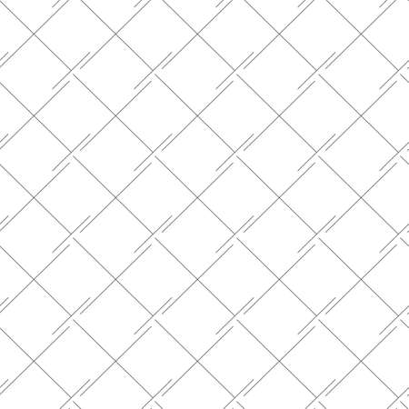 Vector Seamless Linear Pattern Squares Rhombuses Black Lines Isolated White Stock Illustratie