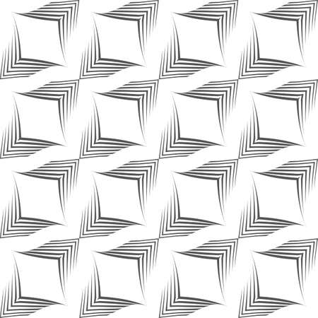 Seamless vector pattern of uneven lines drawn by a pen in the form of corners.Geometric pattern, texture for textiles or tiles, Stock Vector.