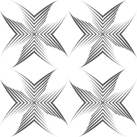 Seamless vector pattern of uneven lines drawn with a pen in the form of corners or crosses.Geometric pattern, texture for textile or wallpaper. Stock vector.