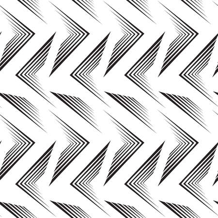 Seamless vector pattern of black lines isolated on white background.Simple geometric background for decoration or backdrop.