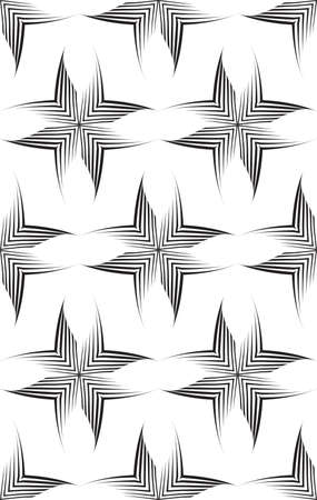 Seamless vector pattern of uneven lines drawn with a pen in the form of corners or rhombuses.Geometric pattern, texture for textile or wallpaper. Stock vector.