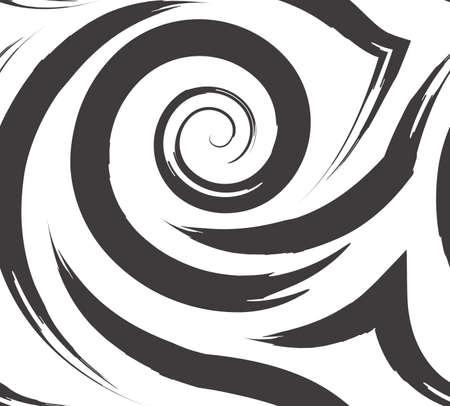 Vector Seamless Pattern Spirals Lines Illusztráció
