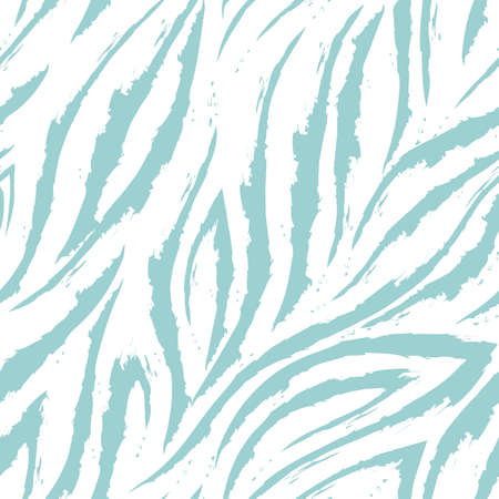 Vector seamless pattern of turquoise lines and corners on a white background. Marine background or water flow. Pastel shades. Illusztráció