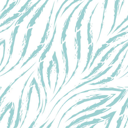 Vector seamless pattern of turquoise lines and corners on a white background.Texture of flowing shapes and lines with torn edges. stream or sea