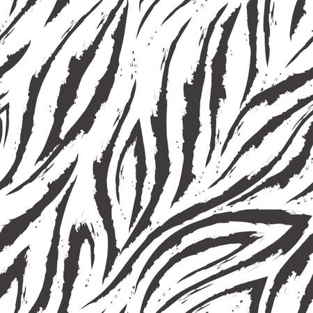Vector seamless pattern of turquoise lines and corners on a white background.Texture of flowing shapes and lines with torn edges.Zebra skin or fur