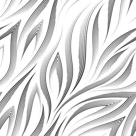 Vector seamless pattern of black lines and corners on a white background.Texture of flowing shapes and lines for the flow or the sea.Background for decoration of fabrics or packaging.
