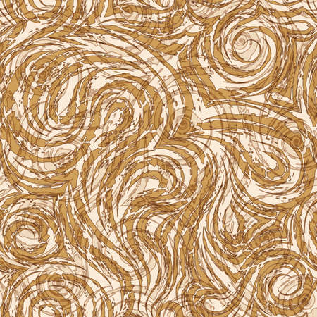 seamless pattern in trendy Set Sail Champagne colors. Torn stripes and circles texture of beige color for decoration of paper fabrics. Zdjęcie Seryjne