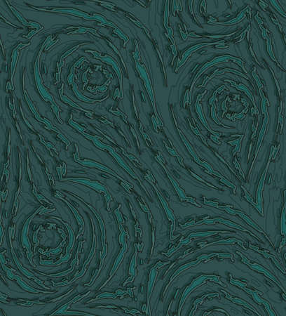 seamless pattern in trending Tidewater Green colors. Torn stripes and circles texture of green color for decoration of paper fabrics.