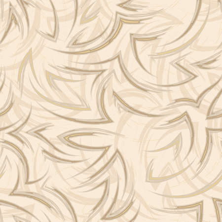 seamless pattern of flowing lines and corners of tones Set Sail Champagne. Water or flow texture for packaging and clothing design. Flowing pattern of brush strokes Zdjęcie Seryjne