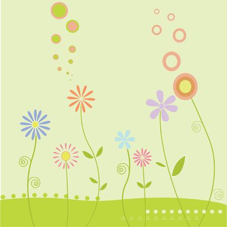 Wild flowers 向量圖像