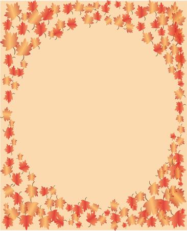 Fall Frame Rectangular Иллюстрация