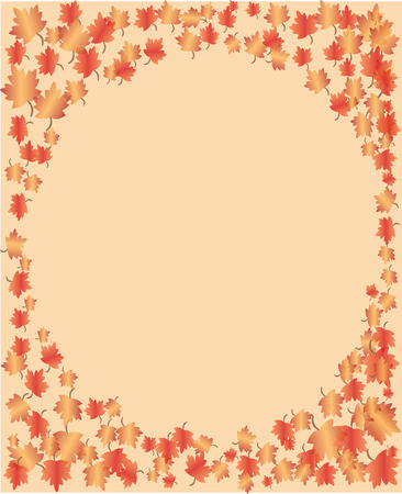 Fall Frame Rectangular 向量圖像