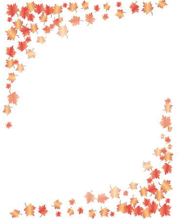 fall of the leaves: Fall Leaves border