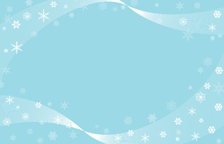 snowflakes with wavy background
