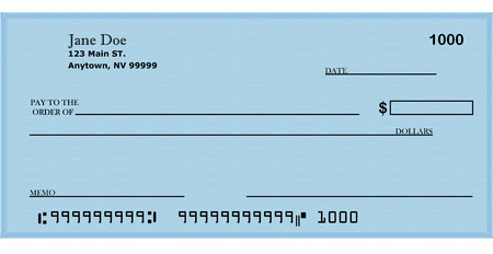 fiscal: Blank Check with address 2