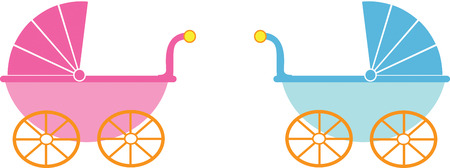 girl and boy baby strollers