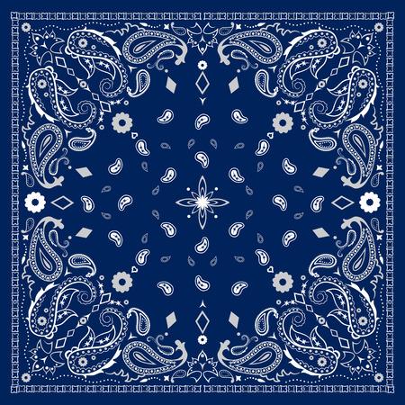 pañuelo azul Ilustración de vector