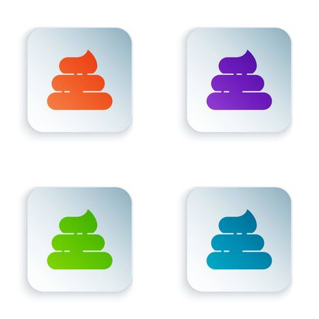 Color Shit icon isolated on white background. Set icons in colorful square buttons. Vector Illustration Ilustração