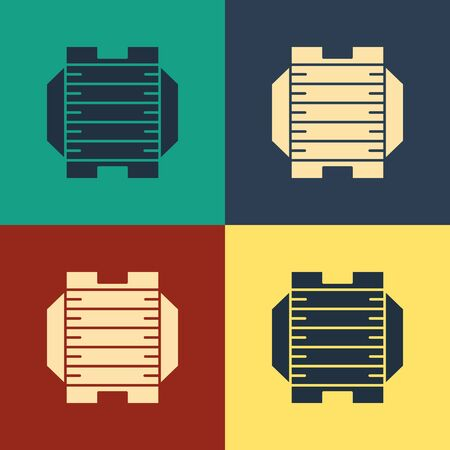 Color American football field icon isolated on color background. Vintage style drawing. Vector Illustration 向量圖像