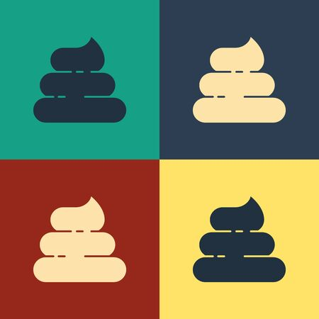Color Shit icon isolated on color background. Vintage style drawing. Vector Illustration