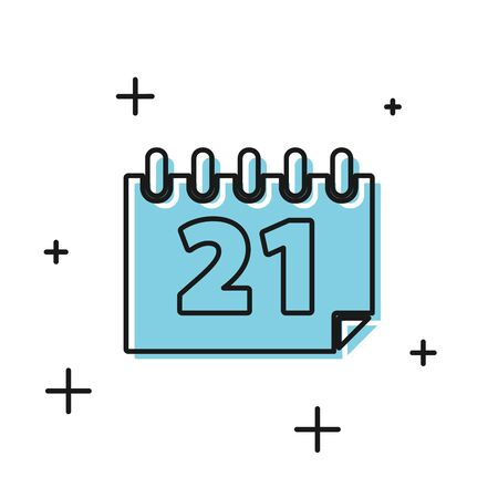 Black Calendar icon isolated on white background. Event reminder symbol. Vector Illustration Stock Illustratie
