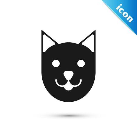 Black Cat icon isolated on white background. Vector Illustration Illusztráció