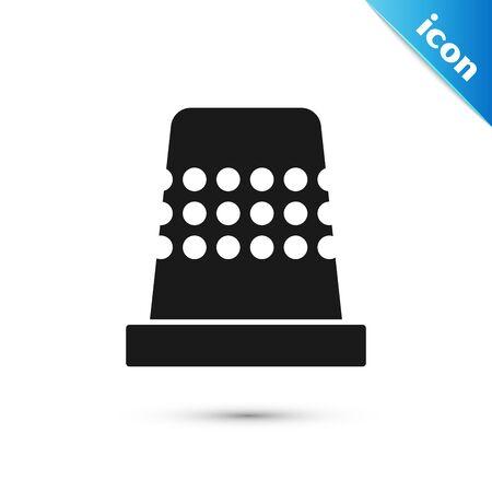 Black Thimble for sewing icon isolated on white background. Vector Illustration Vektorgrafik