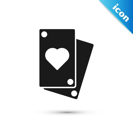 Black Playing card icon isolated on white background. Vector Illustration