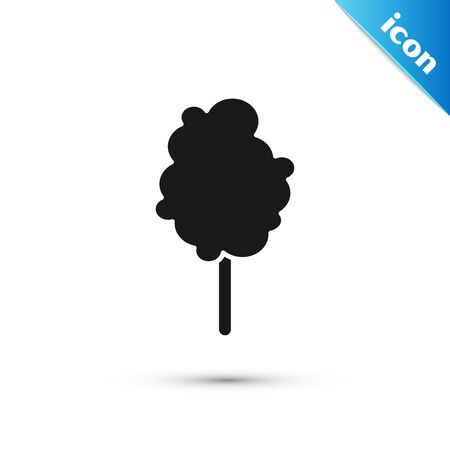 Black Cotton candy icon isolated on white background. Vector Illustration Ilustração