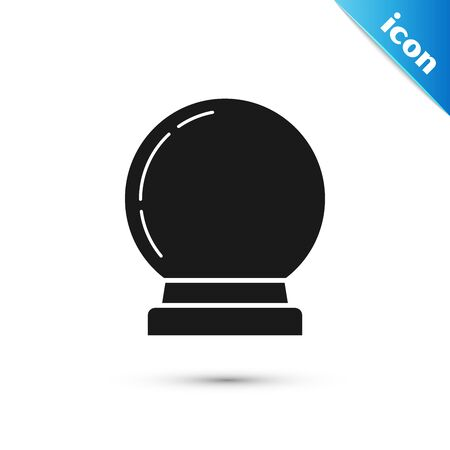 Black Magic ball icon isolated on white background. Crystal ball. Vector Illustration