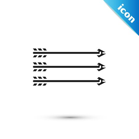 Black Hipster arrows icon isolated on white background. Vector Illustration Ilustracja