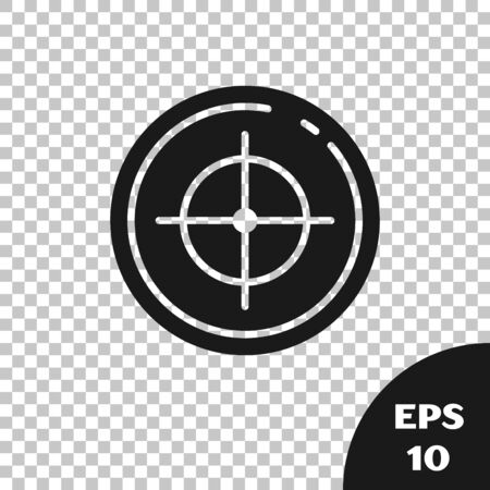 Black Target sport for shooting competition icon isolated on transparent background. Clean target with numbers for shooting range or shooting. Vector Illustration 일러스트