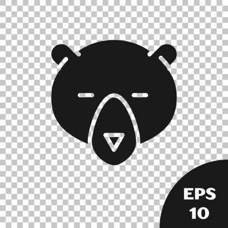 Black Bear head icon isolated on transparent background. Vector Illustration Ilustrace