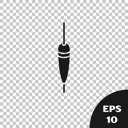 Black Fishing float icon isolated on transparent background. Fishing tackle. Vector Illustration Illustration