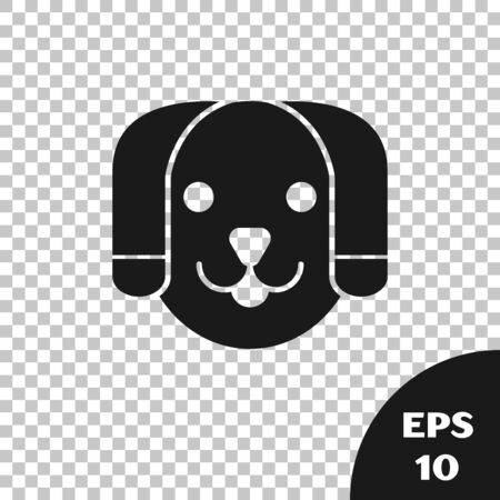 Black Dog icon isolated on transparent background. Vector Illustration Stock Illustratie