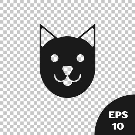 Black Cat icon isolated on transparent background. Vector Illustration