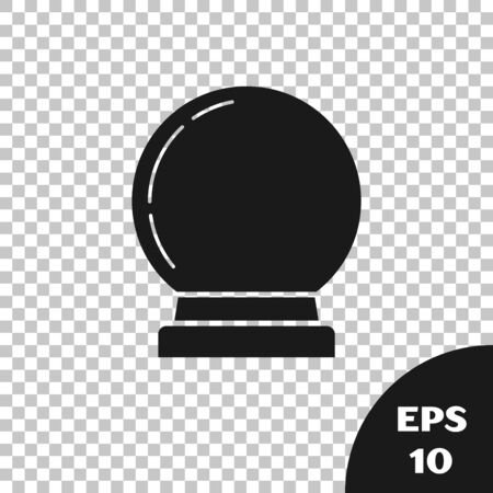 Black Magic ball icon isolated on transparent background. Crystal ball. Vector Illustration Illustration