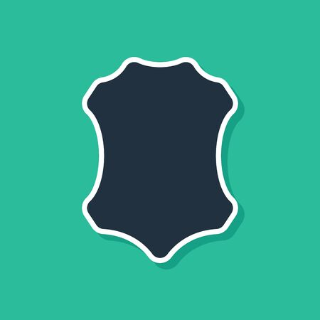 Blue Leather icon isolated on green background. Vector Illustration Stock Illustratie