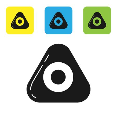 Black Sewing chalk icon isolated on white background. Set icons colorful square buttons. Vector Illustration