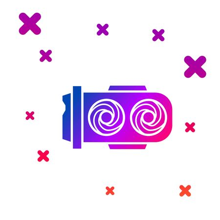 Color Mining farm icon isolated on white background. Cryptocurrency mining, blockchain technology, digital money market, cryptocoin wallet. Gradient random dynamic shapes. Vector Illustration Standard-Bild - 128780850