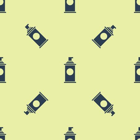 Blue Shaving gel foam icon isolated seamless pattern on yellow background. Shaving cream. Vector Illustration