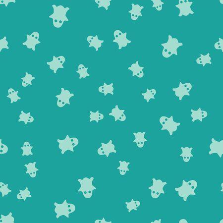 Green Ghost icon isolated seamless pattern on green background. Vector Illustration Stock Illustratie