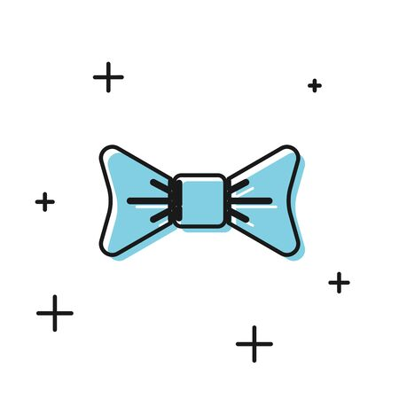 Black Bow tie icon isolated on white background. Vector Illustration Фото со стока - 129804787