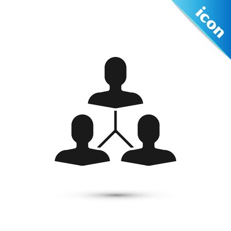 Black Project team base icon isolated on white background. Business analysis and planning, consulting, team work, project management. Vector Illustration Illustration