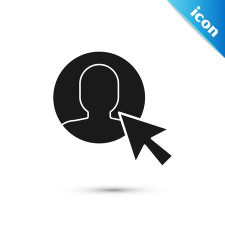Black User of man in business suit icon isolated on white background. Business avatar symbol - user profile icon. Male user sign. Vector Illustration
