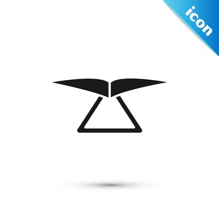 Black Hang glider icon isolated on white background. Extreme sport. Vector Illustration