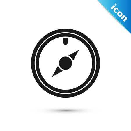 Black Wind rose icon isolated on white background. Compass icon for travel. Navigation design. Vector Illustration