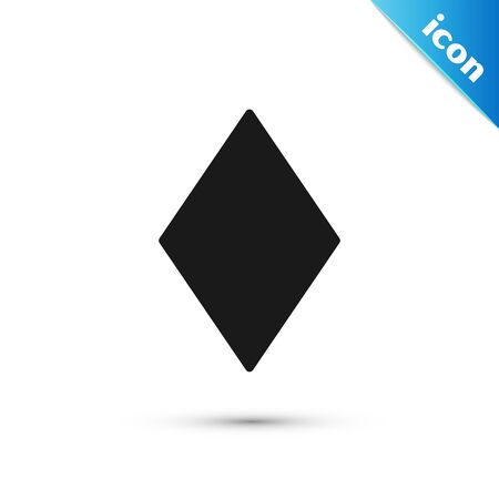 Black Playing card with diamonds symbol icon isolated on white background. Casino gambling. Vector Illustration