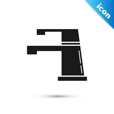 Black Water tap icon isolated on white background. Vector Illustration